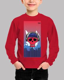 Skull Music Camiseta Manga larga
