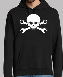 Skull n Bones Tornillo Pirata 1 (blanco