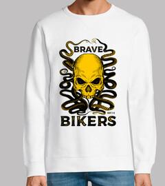 Skull Octopus camiseta blanca