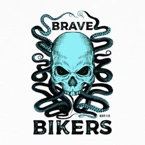T-shirt Skull Octopus camiseta blanca