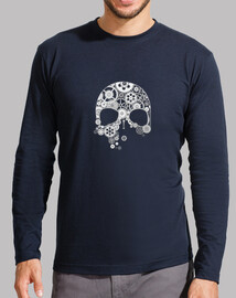 skull of gears on white