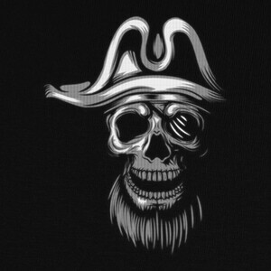Tee-shirts Skull Piratas White