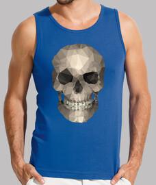 skull poligoni t-shirt uomo maniche blu reale