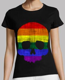 Skull Rainbow Flag