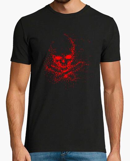 T-shirt skull rete fantasma (h)