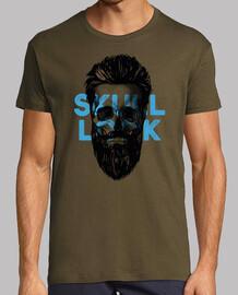 skull t shirt look blue