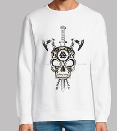 skull vikings and weapons