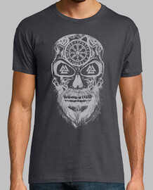 skull vikings gray