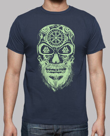 skull vikings green