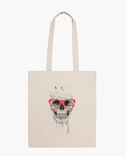 Bolsa Skull with red glasses