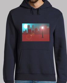 Skyline luna llena jersey capucha él