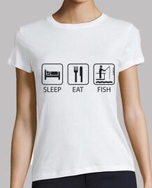 Sleep Eat and Fish Mujer