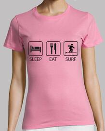 Sleep Eat and Surf Mujer