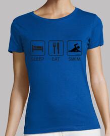 sleep eat and swim woman