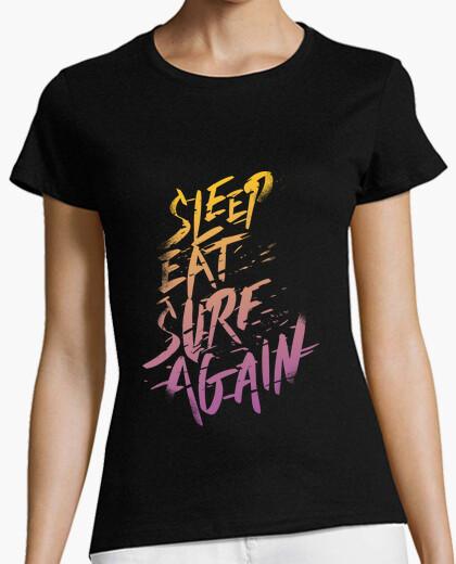 Camiseta Sleep, Eat, Surf, Again
