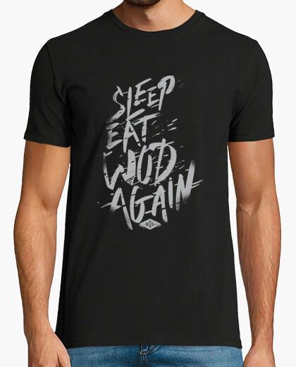 Camiseta Sleep, Eat, Wod, Again vol. 3