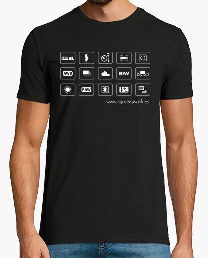 Camiseta SLR Camara Menu