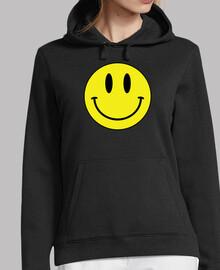 SMILEY BLACK SUDADERA CHICA