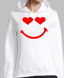 smiley corazones rojos