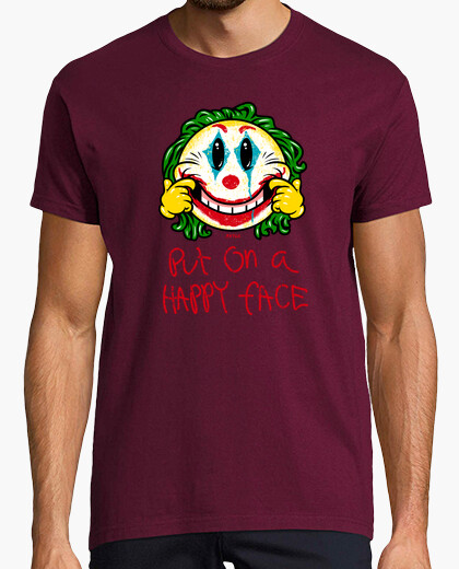 Smiley put on a happy face boy t shirt t-shirt