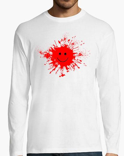 Camiseta smiley smiling mancha roja