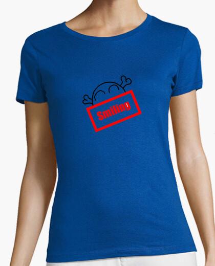 Camiseta Smiling Skull chica