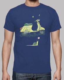 snail and vespa shirt