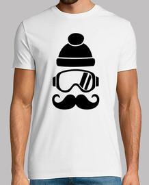 snowboard bigote sombrero