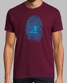 Snowboarder Fingerprint Hombre