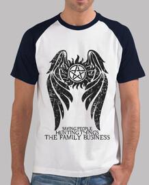 sobrenatural - ver oscuro. - hombre 2 colores camiseta