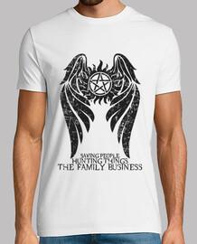 sobrenatural - ver oscuro. - hombre camiseta