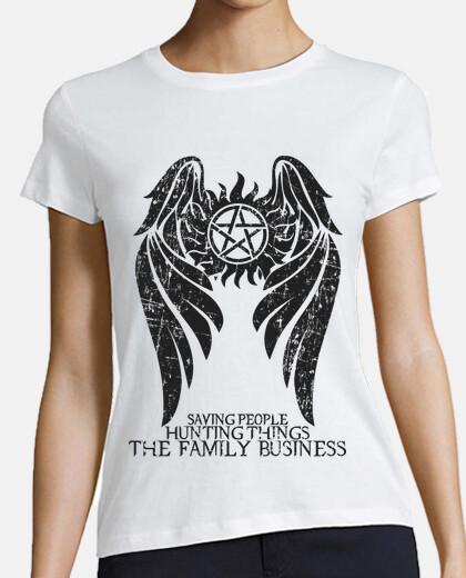 sobrenatural - ver oscuro. - mujer camiseta