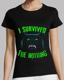 sobreviví a la nada / interminable / mujer.
