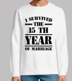 Sobreviví al decimoquinto año de matrim