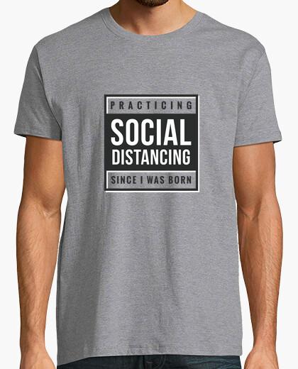 Social distance text shirt t-shirt