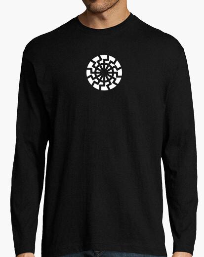 Camiseta SOL NEGRO Chico, manga larga, negra