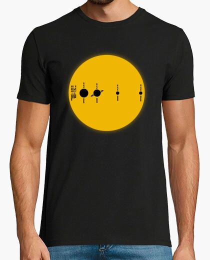 Tee-shirt solaire taille réelle du système