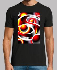 SOLARMOON Diseño Abstracto Hombre, manga corta, negra