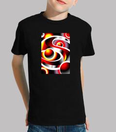 SOLARMOON Diseño Abstracto Niño, manga corta, negra