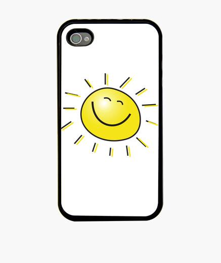 Coque iPhone soleil heureux