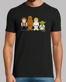 Solo, Chewbacca, Luke y Yoda
