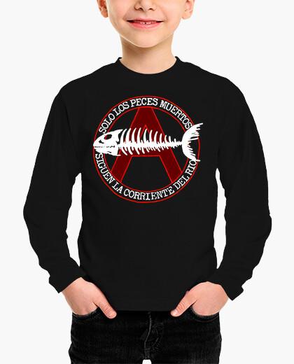 Ropa infantil Sólo los peces muertos...