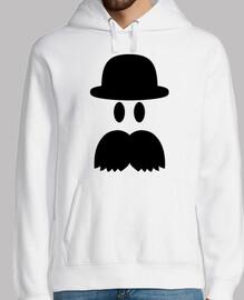 sombrero de bigote sonriente