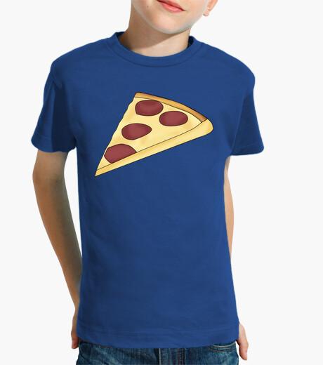 Vêtements enfant son pizza - enfant, manches courtes, bleu royal