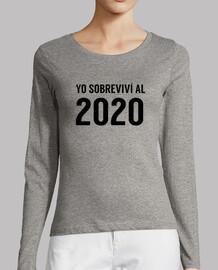 sono sopravvissuto 2.020 t-shirt t-shirt donna