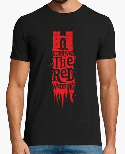 T-shirt sono sopravvissuto al matrimonio rosso