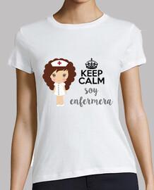 sono un infermiere - donna, manica corta, bianco, qualità premium