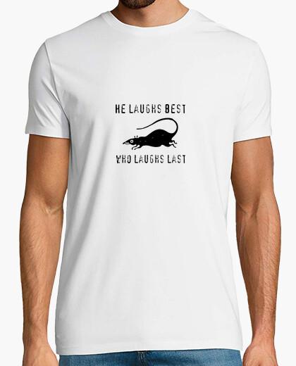 Camiseta sonreir - who laughs last
