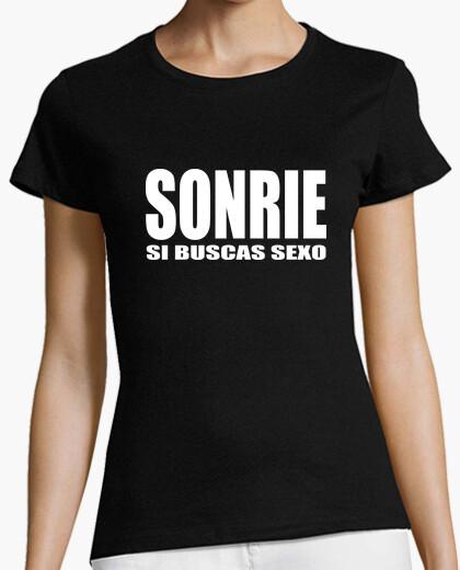 Camiseta SONRIE si buscas sexo