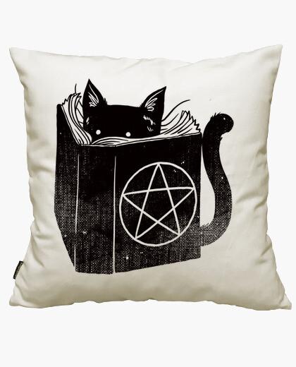Housse de coussin sorcellerie chat